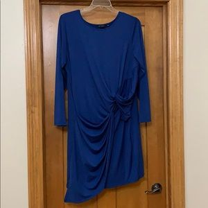 H by Halston Jet Set Jersey Drape Knotted Dress